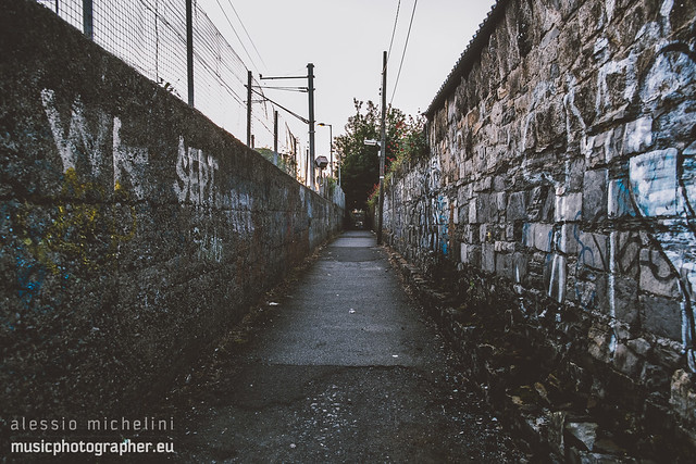 Small street near Lansdowne Road, Dublin