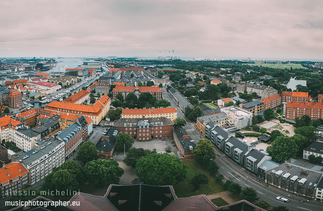 View of Copenhagen from the top of the Church of Our Saviour